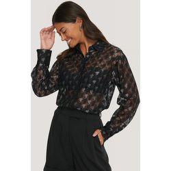 Pepita Lace Pocket Blouse - Black - NA-KD Classic - Modalova