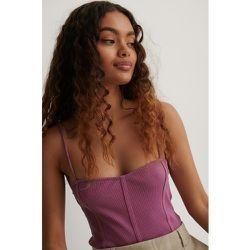 Haut À Coutures Apparentes - Purple - NA-KD Reborn - Modalova