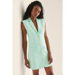 Tailored Vest Dress - Turquoise - NA-KD Classic - Modalova