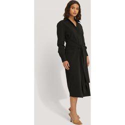 Tie Front Shirt Dress - Black - NA-KD Classic - Modalova