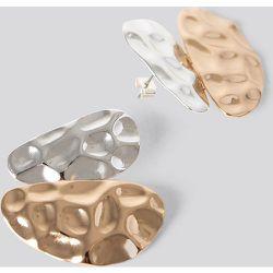 Uneven Flat Earrings - Gold - NA-KD Accessories - Modalova
