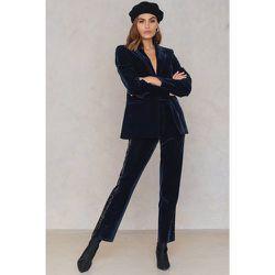 Velvet Striped Trousers - Navy - NA-KD Party - Modalova