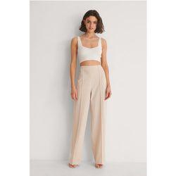 Pantalon Large À Coutures Apparentes - Beige - NA-KD Trend - Modalova