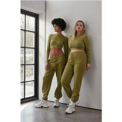 Pantalon De Survêtement À Ourlet Zippé - Green - NA-KD Flow - Modalova