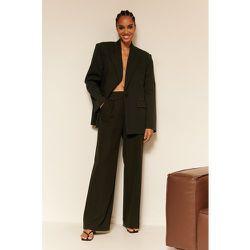 Pantalon De Costume À Poche - Black - Oumayma x NA-KD - Modalova