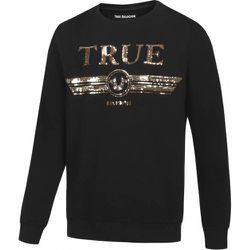 Trucci Sequin Crew s Sweat-shirt M19HF28N7G-4005 - True Religion - Modalova