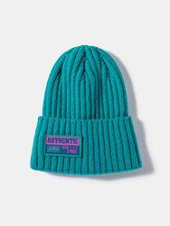Unisexe tricoté couleur unie lettre motif coudre tissu clocher sans bord bride extérieur chaleur bonnet chapeau - Newchic - Modalova