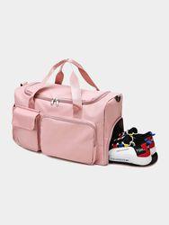 S Rose Nylon Grande Capacité Gym Sacs Multifonction Chaussures Compartiment De Stockage De Voyage Sac À Main Sac À - Brenice - Modalova