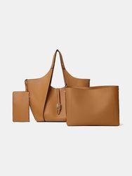 Faux cuir 3 pièces grande capacité multi-poches clé amovible sac à bandoulière multifonctionnel sac à main fourre-tout - Brenice - Modalova