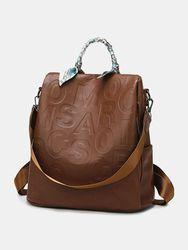 S Vintage en cuir PU en relief multi-porter sac à bandoulière sac à bandoulière sac à dos sac à main - Newchic - Modalova