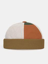 Bonnet unisexe en velours côtelé avec contraste de couleur et patchwork réglable sans bord - Newchic - Modalova