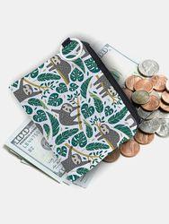 Dacron Sloth Splashproof Portable Tissu Texture Porte-Monnaie Pochette Portefeuille Titulaire De La Carte - Newchic - Modalova