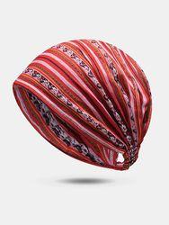 Bonnet multicolore rayé Chapeau caractéristique florale Casquette de style ethnique Turban Head Wrap - Newchic - Modalova