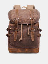Sac à dos de randonnée rétro en toile de cuir véritable imperméables en plein air - Newchic - Modalova