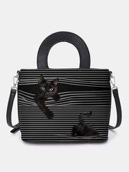 Sac à main rayé chat sac bandoulière sac à bandoulière sacoche - Newchic - Modalova