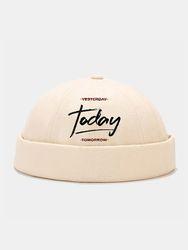 Bonnet unisexe en coton polyester avec motif de lettre imprimé bonnet sans bord tout allumette casquette de propriétaire - Newchic - Modalova