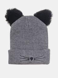 S chaud élastique décontracté dessin animé mignon chat motif de broderie chapeau tricoté bonnet sans bord - Newchic - Modalova