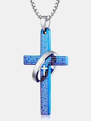 Mode Pendentif Collier Graphème Croix Creux Rond Charme Collier Bijoux Ethniquess - Newchic - Modalova