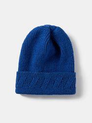 Bonnet unisexe tricoté en jacquard de couleur unie sans bord avec bride extérieure pour la chaleur - Newchic - Modalova