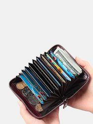 Portefeuille RFID homme en cuir véritable porte-monnaie avec 12 fentes pour carte - Newchic - Modalova