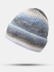 Bonnet de protection contre le froid à la mode unisexe en mohair tricoté ombré - Newchic - Modalova