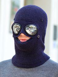 Bonnet tricoté en velours avec lunettes de soleil - Newchic - Modalova