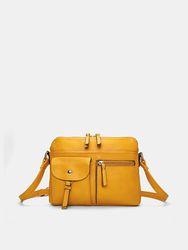 Women Multi-pockets Casual Faux Leather Crossbody Bag - Brenice - Modalova