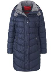 La veste longue matelassée à capuche amovible bleu - Fuchs & Schmitt - Modalova