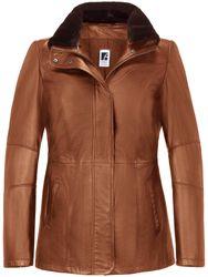 La veste en cuir d'agneau marron - Anna Aura - Modalova