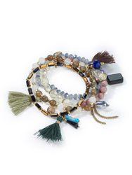 Les bracelets design oriental multicolore - Lua Accessoires - Modalova