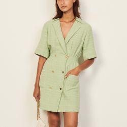 Dress with tailored collar - Sandro - Modalova