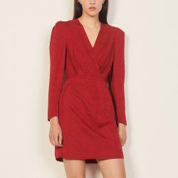 Short python-effect jacquard dress - Sandro - Modalova