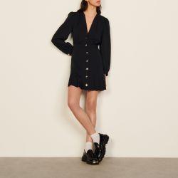 Short dress with press studs - Sandro - Modalova