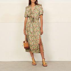 Long printed dress - Sandro - Modalova
