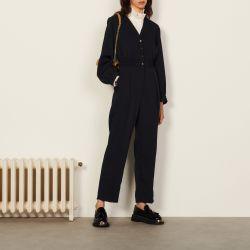 Long-sleeved jumpsuit - Sandro - Modalova