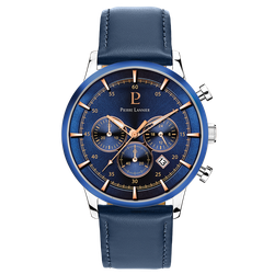 Montre Pierre Lannier - Montre Chronographe Cuir Bleue Pierre Lannier Montres - 224G166 - Modalova