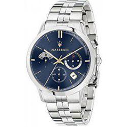 Montre R8873633001 - Chronographe Acier Argenté Cadran Bleu - Maserati - Modalova