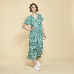 Promo : Robe longue fluide imprimé floral - 3S. x Le Vestiaire - Modalova