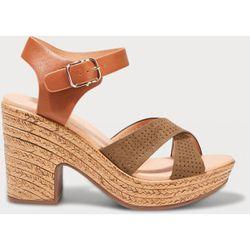 Sandales à talons perforées - Cache cache - Modalova
