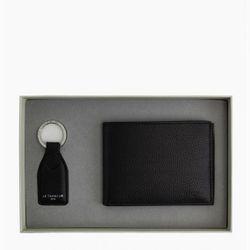 Coffret - Porte clés + Portefeuille en cuir grainé - Le Tanneur Maroquinerie - Modalova