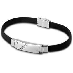 Bracelet Men Basic - Bracelet Noir Cuir - LS1037-2-1 - Modalova
