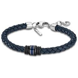 Bracelet Urban Man - Bracelet Cuir Bleu Tressé - LS1814-2-1 - Modalova