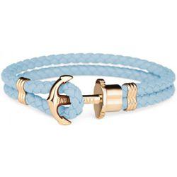 Bracelet Paul Hewitt PH-PH-L-G-NI - Bracelet Ancre Acier IP Doré / Cuir Niagara - PH-PH-L-G-NI-M - Modalova