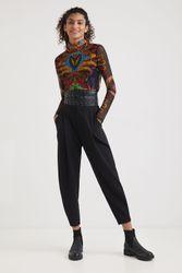 T-shirt slim tulle - BLACK - L - Desigual - Modalova