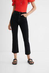 Pantalon en jean longueur cheville évasé - BLUE - 36 - Desigual - Modalova