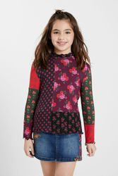 T-shirt patchwork fleurs - RED - 11/12 - Desigual - Modalova