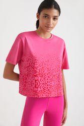 T-shirt léopard 100 % coton - RED - S - Desigual - Modalova