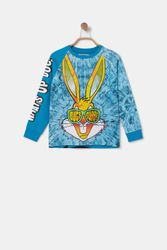 T-shirt coton illustration Bugs Bunny - BLUE - 7/8 - Desigual - Modalova