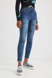 Pantalon en jean skinny chevilles cosmic - BLUE - 46 - Desigual - Modalova