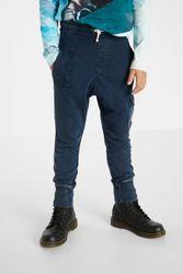 Pantalon jogger cordon - BLUE - 7/8 - Desigual - Modalova